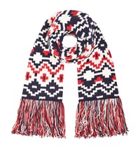 Maje Etienne Fringe Trim Scarf Female Red