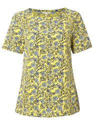 White Stuff Forever More Floral Top Pineapple Yellow