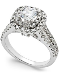 Macy's Certified Diamond Double Halo Engagement Ring 2 Ct. T.W. In 14K White Gold