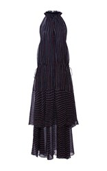 Apiece Apart Pozos Tiers Maxi Dress Stripe