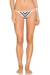Seafolly Coast To Coast Tie Side Bikini Bottom Black And White
