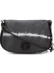 Henry Beguelin Foldover Top Cross Body Bag Grey