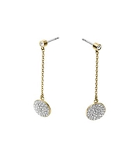 Michael Kors Pave Disc Drop Earrings Gold