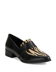 424 Fifth Valentina Leather Loafers Black