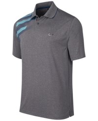 Greg Norman For Tasso Elba Men's Graphic Print Performance Polo Only At Macy's Heather Grey