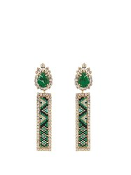 Shourouk Bastet Clip On Earrings Green