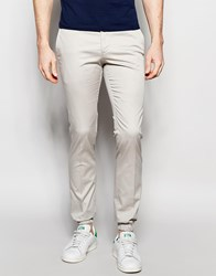 Noak Cotton Trousers In Super Skinny Fit With Cuffed Hem White