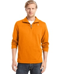 Izod Quarter Zip Pullover Sun Orange