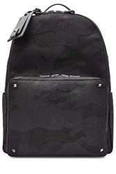 Valentino Felted Wool Backpack With Rockstuds Black