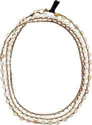 Feathered Soul Women's Gemstone Wrap Necklace Bracelet Colorless