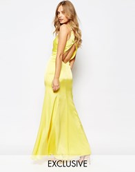 Fame And Partners Nevada Maxi Dress With Fishtail And Keyhole Back Ye1 Yellow 1