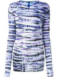 Proenza Schouler Tie Dye Print T Shirt Pink And Purple