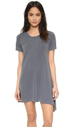 Sundry Asymmetrical Dress Pigment Charcoal