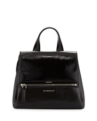 Givenchy Pandora Pure Small Patent Leather Satchel Bag Black