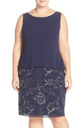 Plus Size Women's Adrianna Papell Beaded Blouson Dress