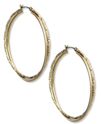 Jones New York Earrings Gold Tone Twisted Medium Hoop Earrings