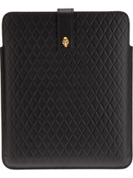 Alexander Mcqueen Quilted Skull Tablet Sleeve Black