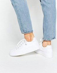 Asos Day Trip Flatform Trainers White