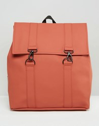 Rains Msn Backpack In Rust Rust Red
