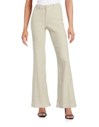 Nydj Claire Flared Leg Pants Sand Dollar
