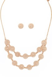 Forever 21 Filigree Pendant Jewelry Set