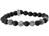 King Baby Studio 8Mm Onyx Bead Bracelet With 5 Stingray Beads Onyx Bracelet Black