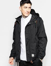 Fat Moose Sailor Jacket In Black Black