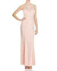 Sean Collection Embellished Open Back Gown Blush