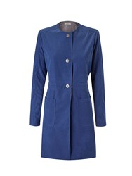 Lavand Collarless Coat Blue
