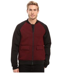 Kenneth Cole Color Block Bomber Malbec Men's Coat Purple