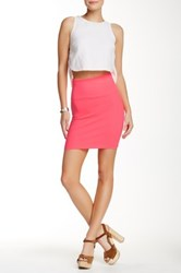 Lily White Short Skirt Pink