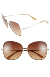 Women's Bcbgmaxazria 'Sunkissed' 59Mm Butterfly Sunglasses Brown Gold