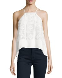 Elizabeth And James Kaye Sleeveless Floral Macrame Top Ivory Ivory Women's