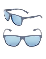 Armani Exchange Ax4052s 58Mm Wayfarer Sunglasses Matte Blue