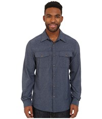 Royal Robbins Diablo Long Sleeve Shirt Deep Blue Men's Long Sleeve Button Up