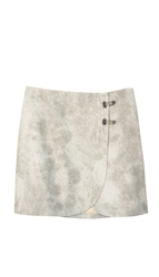 Tibi Pony Hair Mini Skirt