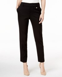 Charter Club Slim Leg Cropped Pants Only At Macy's Deep Black