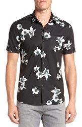 7 Diamonds Men's 'My Wish' Short Sleeve Floral Print Sport Shirt