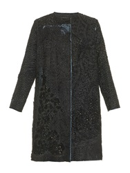 By Walid Vintage A Line Embroidered Silk Coat