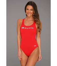Speedo Guard Super Pro Red Women's Swimsuits One Piece