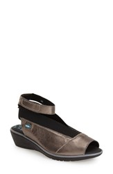 Women's Cloud 'Saucy' Ankle Strap Wedge Lead Leather