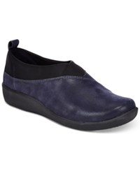 Clarks Collection Women's Cloud Steppers Sillian Greer Sneakers Women's Shoes Navy Nubuck