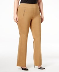 Inc International Concepts Plus Size Wide Leg Pants Only At Macy's Salty Nut