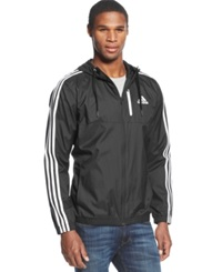 Adidas Full Zip Essential Woven Jacket Black White
