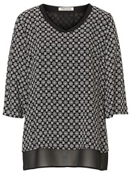 Betty Barclay Layered Print Blouse Black Cream
