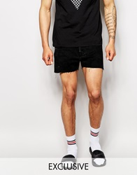 Reclaimed Vintage Levi's Denim Shorts In Short Length Black