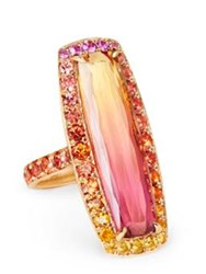 Katherine Jetter Bi Colored Topaz Ring Pink