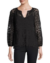 Joie Avery Lace Blouse Black