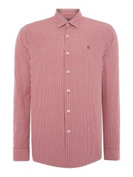Peter Werth Ellington Cut Gingham Shirt Red