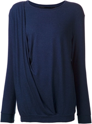Just Female 'Guro' Draped Sweater Blue